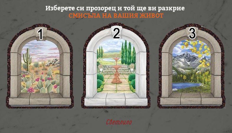 тест с прозорец