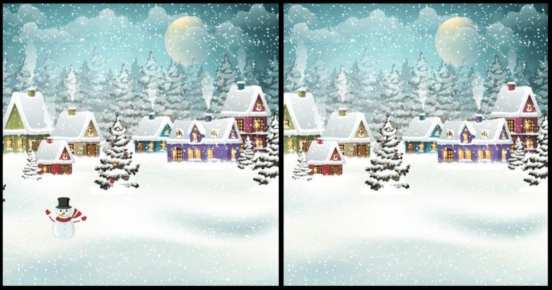 Открийте разликите в тази красива коледна картинка!